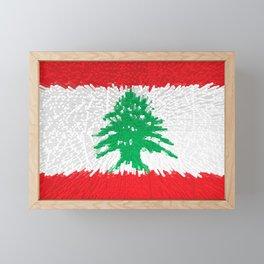 Extruded flag of Lebanon Framed Mini Art Print