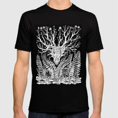 Forest Dragon Mens Fitted Tee Black MEDIUM