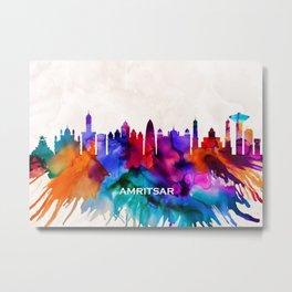 Amritsar Skyline Metal Print