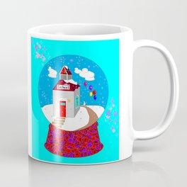 A Winter Wonderland Snow Globe School House Coffee Mug