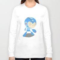 mega man Long Sleeve T-shirts featuring Mega Man by Rod Perich