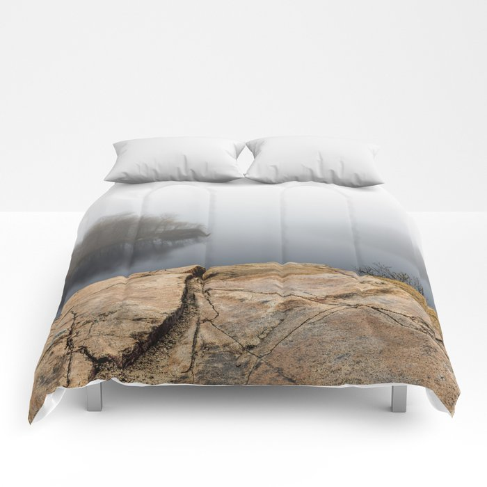 Foggy reflections Comforters