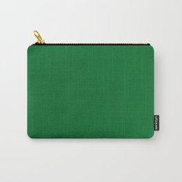 Medium Emerald / Grass Green - Autumn / Fall / Winter - Block Colours - Nature / Trees Carry-All Pouch