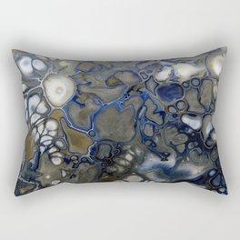 Blue Grey Matter Rectangular Pillow