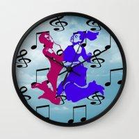 dancing Wall Clocks featuring Dancing by Karl-Heinz Lüpke