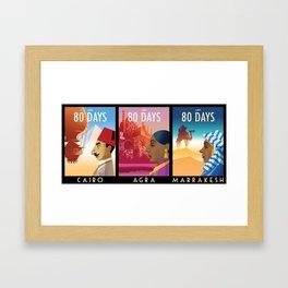 80 Days Framed Art Print