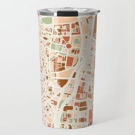 TEL AVIV ISRAEL CITY MAP EARTH TONES Travel Mug