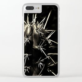Bronze Cacti Clear iPhone Case