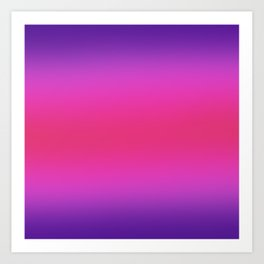 Purple and Pink And Purple Ombre Art Print