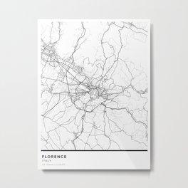 Florence Simple Map Metal Print