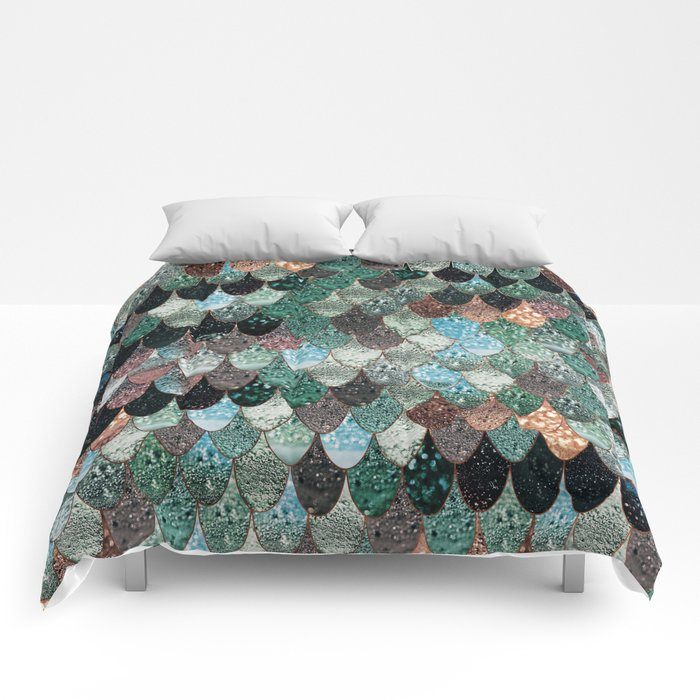 SUMMER MERMAID SEAWEED MIX by Monika Strigel Comforters