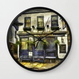 The Mayflower Pub London Van Gogh Wall Clock