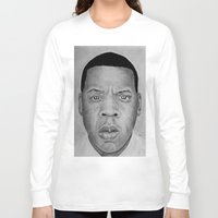 jay z Long Sleeve T-shirts featuring Jay-z by pat langton