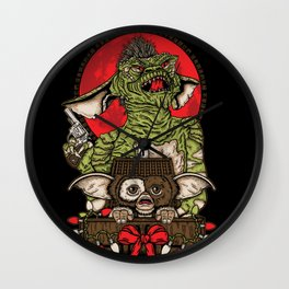 Never Feed Them After Midnight Wall Clock