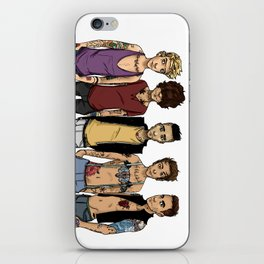 ya crazy punks iPhone Skin