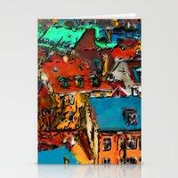 copenhagen Stationery Cards featuring Copenhagen Rooftops by E.M. Shafer