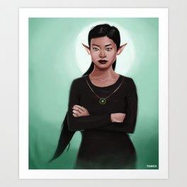 Amara the Elf Art Print
