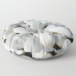 White stones Floor Pillow