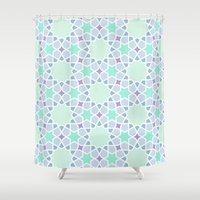 arabic Shower Curtains featuring Arabic pattern by tuditees