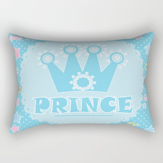 """For the little Prince . From the series """"Gifts for kids"""" . Rectangular Pillow"""