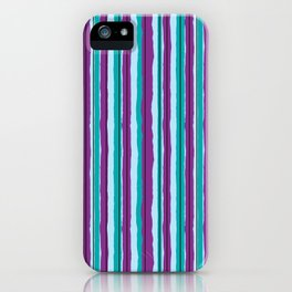 Blueberry Jiggle Stripes iPhone Case