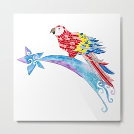 Scarlet macaw making a wish Metal Print