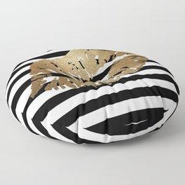 Gold Lips 2 Floor Pillow