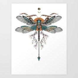 Dragon Fly Tattoo Art Print