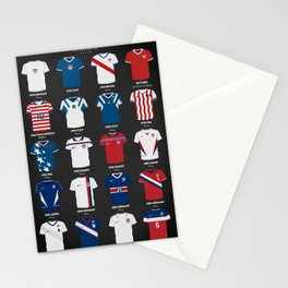 The Evolution Of The Us World Cup Soccer Jersey Stationery Cards