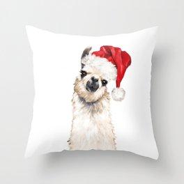 Christmas Llama Throw Pillow