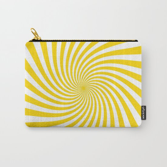 Swirl (Gold/White) Carry-All Pouch