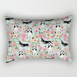 Husky dog breed must have gifts for dog person husky owner presents Rectangular Pillow