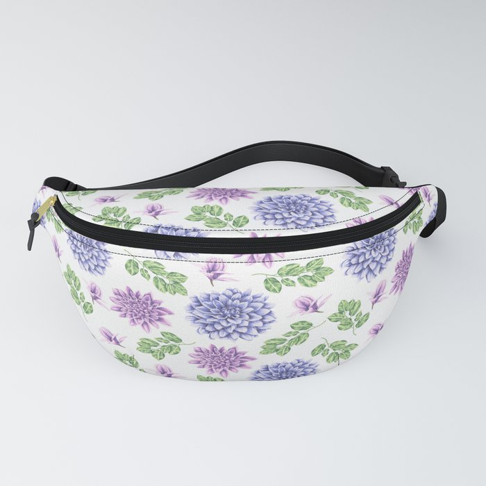 Lavender Garden Pattern Fanny Pack