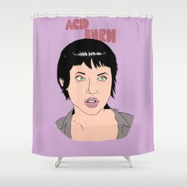 Acid Burn / Kate Libby - Hackers Shower Curtain