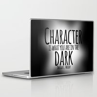 dwight Laptop & iPad Skins featuring Who We Are In The Dark by Jesse G.