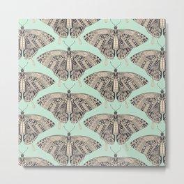 swallowtail butterfly mint basalt Metal Print