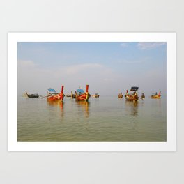 Fishing Boats Thailand Art Print
