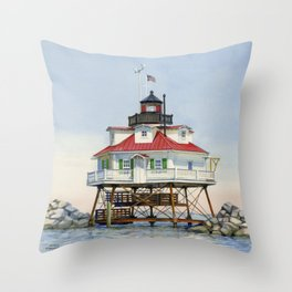 Thomas Point Light Throw Pillow