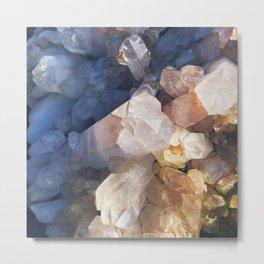 Quartz Crystal Metal Print