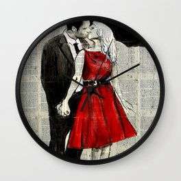 SHE WORE RED Wall Clock