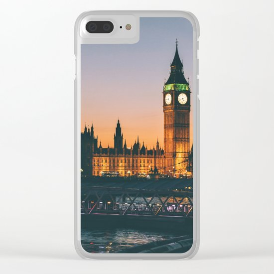 London during Sunset on the Water Clear iPhone Case