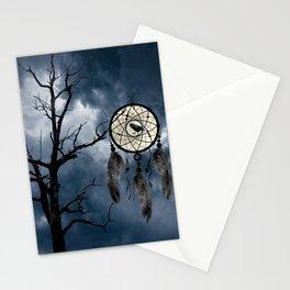 Black Bird Crow Tree Dream Catcher Night Moon A082 Stationery Cards