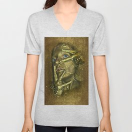 Bath in Gold Unisex V-Neck