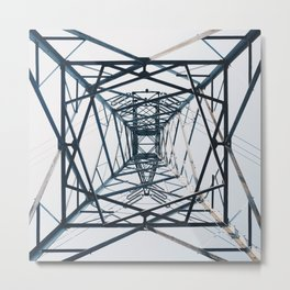 Steel web Metal Print
