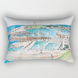 Wollongong Beach Landscape Rectangular Pillow