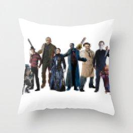 8-Bit Maniacs Throw Pillow