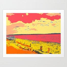 Seashore at Lepe Hampshire Art Print