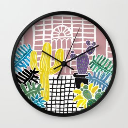 Cacti & Succulent Greenhouse Wall Clock