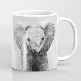 Baby Elephant - Black & White Coffee Mug