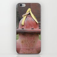 hat iPhone & iPod Skins featuring Hat by Caren Lewis
